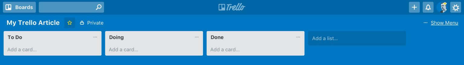 2. Trello Lists